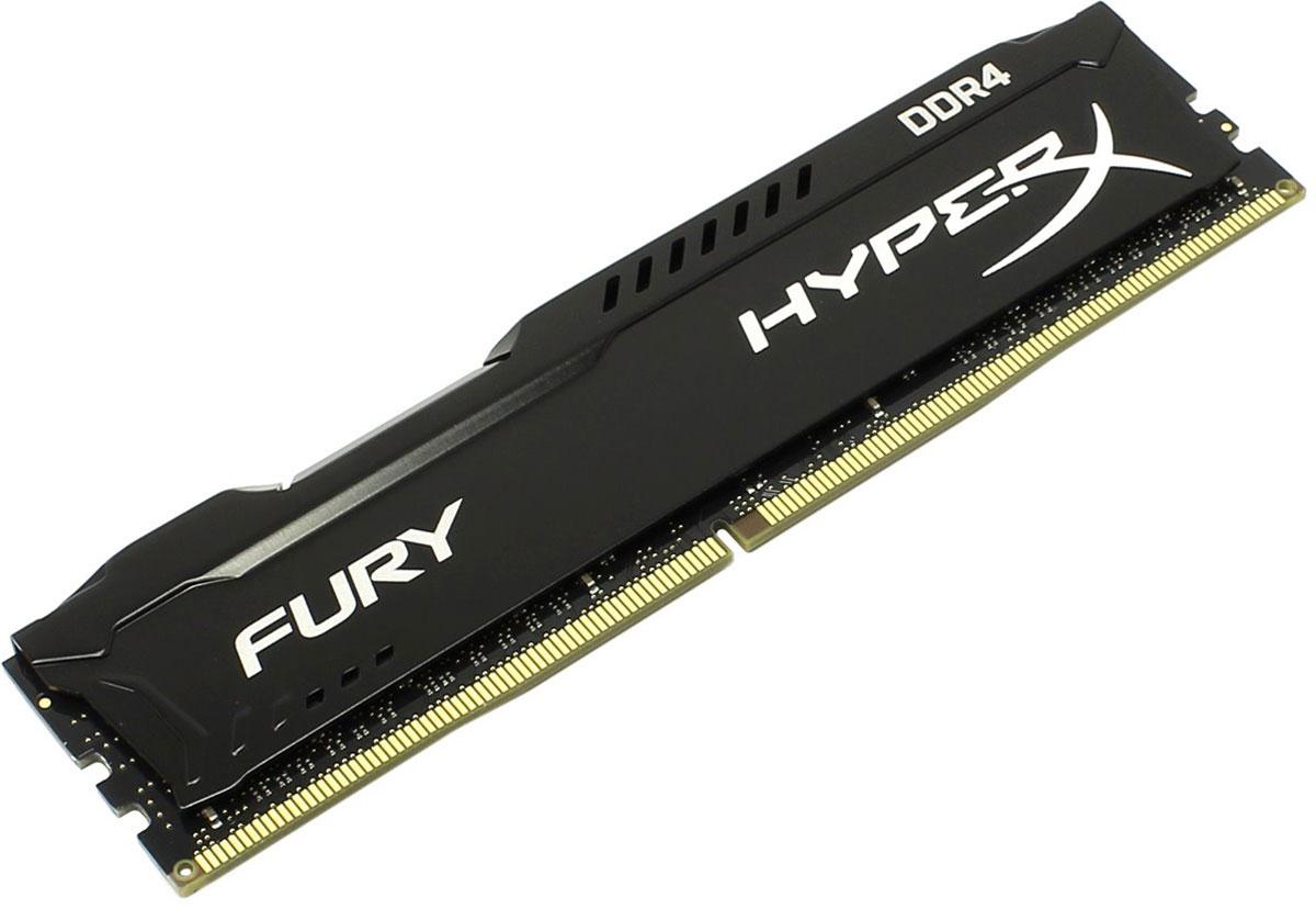 Kingston HyperX Fury DDR4 DIMM 4GB 2666МГц модуль оперативной памяти (HX426C15FB/4)HX426C15FB/4Модуль памяти Kingston HyperX Fury DDR4 автоматически разгоняется до максимальной заявленной частоты и обеспечивает максимальную производительность для системных плат с чипсетами Intel серии 100 и X99. Это недорогое решение для использования с 2-, 4-, 6- и 8-ядерными процессорами Intel повышает скорость редактирования видео, 3D-рендеринга, компьютерных игр и AI-процессинга. Его стильный низкопрофильный теплоотвод с характерным дизайном FURY сразу подчеркнет оригинальный внешний вид вашей системы.HyperX Fury DDR4 - это первая линейка продукции, предлагающая автоматический разгон до максимальной заявленной частоты. Получите максимальную скорость без необходимости ручной настройки.Низкое энергопотребление HyperX Fury DDR4 обеспечивает пониженное выделение тепла и высокую надежность. Благодаря низкому напряжению (1,2 В), снижается потребление энергии, что обеспечивает отсутствие нагрева и бесшумную работу ПК.Выделитесь из толпы и придайте своей системе стиль, добавив в нее культовый асимметричный теплоотвод Fury. Модуль памяти HyperX Fury, предлагаемый в черном цвете с черной печатной платой, дополняет системную плату с чипсетами Intel серии 100 и X99.