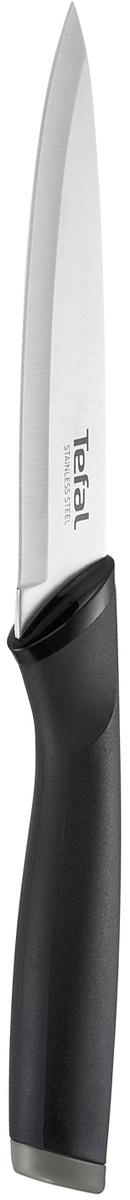 Нож многофункциональный Tefal Comfort, длина лезвия 12 смK2213914Нож многофункциональный Tefal Comfort предназначен для нарезки и измельчения любых продуктов. Лезвие выполнено из нержавеющей стали. Эргономичная ручка из материала Comfort touch в чувствительной зоне использования гарантирует оптимальный комфорт. Нож удобно использовать и хранить благодаря защитному чехлу. Можно мыть в посудомоечной машине.