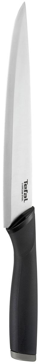 Нож для измельчения Tefal Comfort, длина лезвия 20 смK2213714Нож для измельчения Tefal Comfort подходит для мелкой нарезки различных продуктов. Лезвие выполнено из нержавеющей стали. Эргономичная ручка из материала Comfort touch в чувствительной зоне использования гарантирует оптимальный комфорт. Нож удобно использовать и хранить благодаря защитному чехлу. Можно мыть в посудомоечной машине.