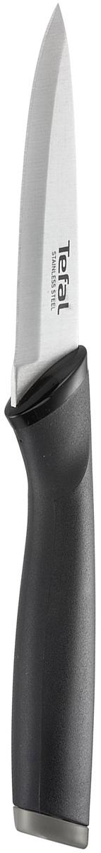 Нож для чистки овощей Tefal Comfort, длина лезвия 9 смK2213514Нож Tefal Comfort предназначен для нарезки и измельчения овощей и фруктов. Короткое лезвие с заостренным кончиком выполнено из нержавеющей стали. Эргономичная ручка из материала Comfort touch в чувствительной зоне использования гарантирует оптимальный комфорт. Нож удобно использовать и хранить благодаря защитному чехлу.Можно мыть в посудомоечной машине.