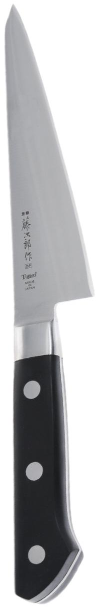 Нож обвалочный Tojiro, длина лезвия 15 смF-803Обвалочный нож Tojiro - это тонкий и острый нож, который используют для удаления костей и кожи от мяса или рыбы. Лезвие выполнено из стали VG10. Режущий слой закален до 60 HRc. Ручка выполнена из Eco Wood - экологически чистого материала, благодаря чему она прослужит долгое время.Правила эксплуатации: - Хранить нож следует в сухом месте. - После использования, промойте нож теплой водой и протрите насухо. - Оставление ножа в загрязненном состоянии может привести к образованию коррозии. Запрещается: - Мыть нож в посудомоечной машине. - Хранить ножи в одной емкости со столовыми приборами. - Резать на твердых поверхностях: каменных столешницах, керамических тарелках, акриловых досках. - Запрещается нецелевое использование ножа: вскрывать консервные банки, разрезать кости, скоблить твердые поверхности, резать замороженные продукты. Правка производится легкими движениями на водном камне или мусате. Заточка ножа - сложный технологический процесс, должен производиться профессионалом на специальном оборудовании. Услуга по заточке ножа предоставляется специалистами компании «Тоджиро». Материал: нержавеющая сталь.Длина лезвия: 15 см.Общая длина ножа: 27,5 см.Уважаемые клиенты! В случае несоблюдения правил эксплуатации, нож не подлежит гарантийному обслуживанию.