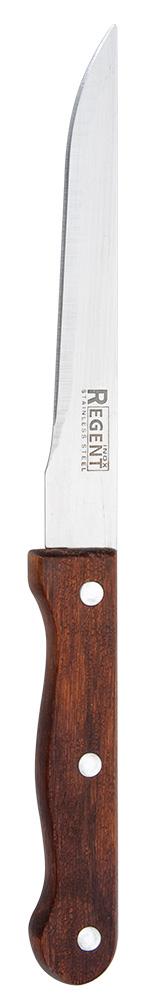 Нож универсальный Regent Inox Eco, длина лезвия 15 см93-WH2-4.1Универсальный нож Regent Inox Eco отлично подойдет для повседневного применения. Длина лезвия является оптимальной и комфортной для нарезания овощей, фруктов, сыра и многого другого. Изделие произведено из качественных материалов: нержавеющей стали и дерева, что делает его использование абсолютно безопасным. Дизайн отличается практичностью и смотрится весьма стильно. Такой нож займет достойное место среди аксессуаров на вашей кухне. Общая длина ножа: 26,5 см.