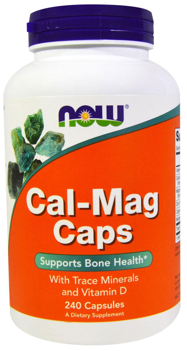Кальций и магний Now Foods Calcium & Magnesium, 240 капсNF1266Комплекс от NOW содержит сбалансированное сочетание незаменимых минералов: кальция, магния, цинка и витамин D. Комплекс от NOW содержит сбалансированное сочетание незаменимых минералов: кальция, магния, цинка и витамина D. Эта формула поддерживает здоровье костей и зубов, работу нервной системы и сердца.Магний участвует во многих биохимических реакциях и является одним из важнейших компонентов в регуляции большинства физиологических процессов. Особая роль принадлежит магнию в функционировании нервной и мышечной тканей - магний необходим для передачи нервных импульсов. Его часто называют антистрессовым минералом, т.к. он снижает нервное напряжение. Магний активно расходуется во время болезней и стрессов. Кальций участвует в формировании, росте, обновлении костей и зубов, поддерживает нормальную работу нервной и мышечной систем, нормальную свёртываемость крови, регулирует деятельность сердечно-сосудистой системы, повышает сопротивляемость организма, снижает аллергические реакции. Кальций во взаимодействии с магнием участвует во многих процессах, происходящих в организме, например, в регулировании тонуса кровеносных сосудов и сокращении мышц, включая сердечную мышцу. Кальций стимулирует мышцы и сокращает кровеносные сосуды, в то время как магний расслабляет мускулатуру и расширяет сосуды.Витамин D включен в состав для лучшего усвоения кальция.Цинк также важный микроэлемент. Большая часть цинка в нашем теле находится в костях, часть запасов цинка (15%) находится в кожных тканях, здесь он участвует в регенерации тканей.Преимущества добавки:1. гарантия качества GMP;2. компоненты, поступающие в организм в гелевых капсулах, лучше усваиваются, чем из обычных капсул и таблеток;3. не содержит сахара, соли, крахмала, дрожжей, пшеницы, глютина, молока, яиц, морепродуктов и консервантов;4. оптимальная пропорция минералов 2:1.Действие препарата : Улучшение состояния волос и кожи, Улучшение обмена веществ, Минерализация 