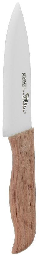 Нож универсальный Ладомир, длина лезвия 12 см. Е4АКА12Е4АКА12Нож Ладомир с лезвием из циркониевой керамики предназначен для нарезки твердых и мягких продуктов: овощей, фруктов, сыра, мяса. Очень удобная и эргономичная рукоятка, выполнена из бамбука. Такой нож займет достойное место среди аксессуаров на вашей кухне.Особенности ножа Ладомир: - Обжигается при температуре 1500°С; - твердость по Роквеллу - HRC 58; - износостойкость лезвия превосходит любые стали почти в 100 раз, - абсолютная химическая нейтральность, - вязкость разрушения: 9 МПа м^1/2. Характеристики:Материал: циркониевая керамика, бамбук. Общая длина ножа: 24 см. Длина лезвия: 12 см. Изготовитель: Китай. Артикул: Е4АКА12.