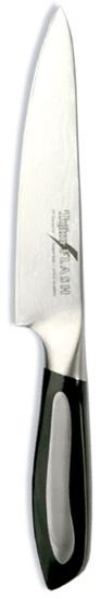 Нож универсальный Tojiro Flash, длина лезвия 15 смFF-UT150Лезвие универсального ножа Tojiro Flash изготовлено из 63 слоев высококачественной нержавеющей стали VG10 (дамасская сталь с твердостью до 63 HRc). Такой клинок отличается повышенной устойчивостью к коррозии, а дамасские узоры выглядят очень эффектно и подчеркивают высокое качество изделия. Двухкомпонентная рукоятка ножа выполнена из микарта со вставками из стали. Рукоятка имеет удобную эргономичную форму, которая не позволит выскользнуть ножу из руки.Нож предназначен для нарезки и обработки различных овощей, рыбы, мяса и других продуктов. Такой нож займет достойное место среди аксессуаров на вашей кухне.Правила эксплуатации: - Хранить нож следует в сухом месте. - После использования, промойте нож теплой водой и протрите насухо. - Оставление ножа в загрязненном состоянии может привести к образованию коррозии. Запрещается: - Мыть нож в посудомоечной машине. - Хранить ножи в одной емкости со столовыми приборами. - Резать на твердых поверхностях: каменных столешницах, керамических тарелках, акриловых досках. - Запрещается нецелевое использование ножа: вскрывать консервные банки, разрезать кости, скоблить твердые поверхности, резать замороженные продукты. Правка производится легкими движениями на водном камне или мусате. Заточка ножа - сложный технологический процесс, должен производиться профессионалом на специальном оборудовании. Услуга по заточке ножа предоставляется специалистами компании «Тоджиро». Характеристики:Материал: нержавеющая сталь VG10, микарт. Длина лезвия ножа: 15 см. Общая длина ножа: 27 см. Заточка: #8000. Размер упаковки: 36,5 см х 10,5 см х 3 см. Артикул: FF-UT150.Уважаемые клиенты! В случае несоблюдения правил эксплуатации, нож не подлежит гарантийному обслуживанию.