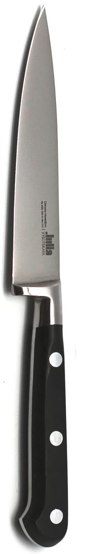 Нож универсальный Ivo, длина лезвия 11 см. 80468046Универсальный нож Ivo изготовлен из из высококачественной нержавеющей стали. Удобная рукоятка ножа, выполненная из пластика, не позволит выскользнуть ему из руки. Легкий и многофункциональный нож предназначен для резки небольших овощей и фруктов, колбасы, сыра, масла. Универсальный нож Ivo займет достойное место среди аксессуаров на вашей кухне. Характеристики:Материал: нержавеющая сталь, пластик.Длина лезвия: 11 см.Ширина лезвия: 2 см.Общая длина ножа: 21 см.Артикул: 8046.