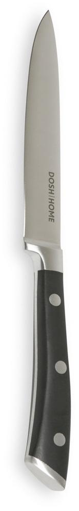 Нож универсальный Dosh Home Leo, длина лезвия 13 см100802Нож универсальный Dosh Home Leo - это массивный нож высшего качества для профессионального и домашнего использования. Замечателен для универсального использования при обработке продуктов. Лезвие сформировано и вручную заточено для идеального эффекта при использовании. Эргономическая ручка с массивными металлическими заклепками.Длина лезвия: 13 см.Толщина лезвия: 2 мм.