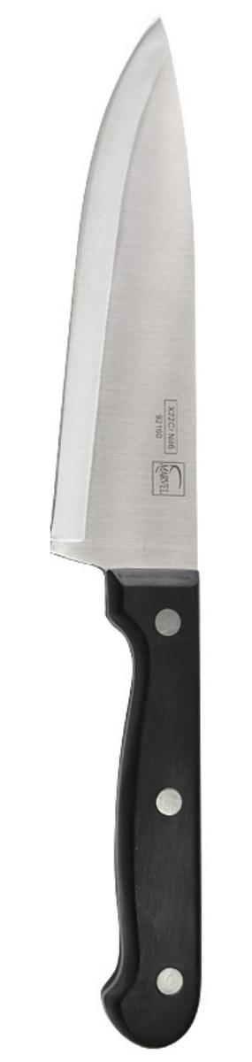Нож поварской Marvel Classic, длина лезвия 15 см92160Поварской нож Marvel Classic очень полезен для нарезки колбасы, сыра, лука, хлеба, пучков салата. Вполне универсален, один из самых нужных на кухне ножей. Лезвие выполнено из высококачественной стали. Эргономичная рукоятка не скользит в руках и делает нарезку удобной и безопасной. Благодаря уникальной формуле стали и качеству ее обработки, лезвие имеет высокий показатель твердости, что позволяет ему долго сохранять острую заточку.Нож Marvel Classic займет достойное место среди аксессуаров на вашей кухне.Длина ножа: 27 см.