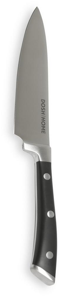 Нож кулинарный Dosh Home Leo, длина лезвия 16 см100804Массивный нож высшего качества Dosh Home Leo прекрасно подходит для профессионального и домашнего использования, для универсального использования на кухне. Он выполнен из стали. Лезвие сформировано и вручную заточено для идеального эффекта при использовании. Эргономическая ручка с массивными металлическими заклепками.Длина лезвия: 16 см.Толщина лезвия: 2,5 мм.