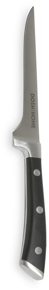 Нож обвалочный Dosh Home Leo, длина лезвия 16 см100803Нож обвалочный Dosh Home Leo - это массивный нож высшего качества для профессионального и домашнего использования. Тонкое лезвие замечательно подойдет для отделения от костей всех видов мяса. Лезвие сформировано и вручную заточено для идеального эффекта при использовании. Эргономическая ручка с массивными металлическими заклепками.Длина лезвия: 16 см.Толщина лезвия: 2,5 мм.