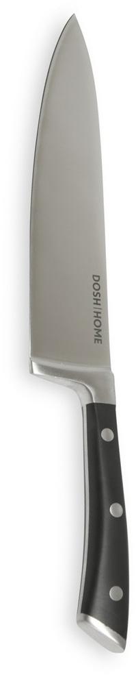Нож кулинарный Dosh Home Leo, длина лезаия 20 см100808Массивный нож высшего качества Dosh Home Leo прекрасно подходит для профессионального и домашнего использования, для универсального использования на кухне. Он выполнен из стали. Лезвие сформировано и вручную заточено для идеального эффекта при использовании. Эргономическая ручка с массивными металлическими заклепками.Длина лезвия: 20 см.Толщина лезвия: 2,5 мм.