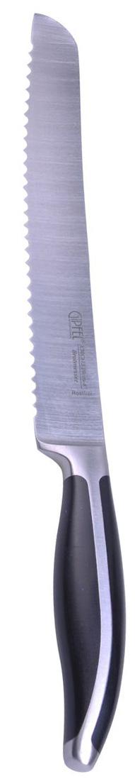 Нож для хлеба Gipfel, длина лезвия 20,32 см. 69576957Нож Gipfel выполнен из нержавеющей стали. Ножи из нержавеющей стали относятся к ножам более высокого класса. Удобная литая рукоятка ножа, выполненная из нержавеющей стали с бакелитовыми вставками, не позволит выскользнуть ему из руки.Этот нож с волнистым лезвием прекрасно подойдет для нарезки хлеба и других продуктов. Нож Gipfel займет достойное место среди аксессуаров на вашей кухне.