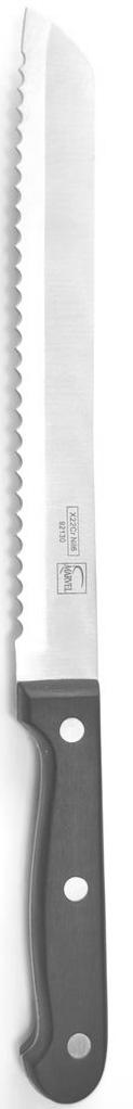 Нож для хлеба Marvel Classic, длина лезвия 20 см92130Нож Marvel Classic, выполненный из высококачественной стали, идеально подходит для нарезания хлеба с хрустящей корочкой. Ручка обеспечивает надежный и удобный хват.Нож Marvel Classic идеально сбалансирован, чтобы обеспечить точную и легкую нарезку продуктов. Благодаря тщательно подобранным материалам, нож легко использовать, мыть и хранить. Общая длина ножа: 32 см.