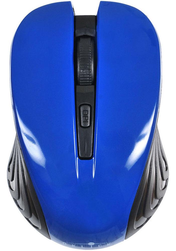 Oklick 545MW, Black Blue игровая мышь545MWМышь Oklick 545MW представляет собой доступное и удобное периферийное устройство для настольного ПК или ноутбука.Благодаря беспроводной технологии вы можете использовать представленную модель не только на рабочем месте, но также в поездках или командировках. Компактные размеры корпуса позволяют без труда уместить мышь в стандартной сумке для ноутбука или рюкзаке.Мышь подключается к компьютеру посредством радио-соединения, это дает возможность использовать манипулятор на расстоянии до 10 метров от источника приема сигнала.Разрешение сенсора составляет 1600 dpi, что обеспечивает высокую точность позиционирования курсора и возможность работы на ограниченном пространстве. Для удобства работы предусмотрено несколько режимов чувствительности сенсора.