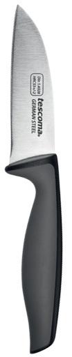 """Нож Tescoma """"Precioso"""" предназначен для нарезки  и измельчения овощей и фруктов. Короткое лезвие с  заостренным кончиком выполнено из нержавеющей стали.  Эргономичная ручка из пластика с противоскользящим  покрытием.  Можно мыть в посудомоечной машине. Длина лезвия: 8 см.  Общая длина ножа: 20 см."""