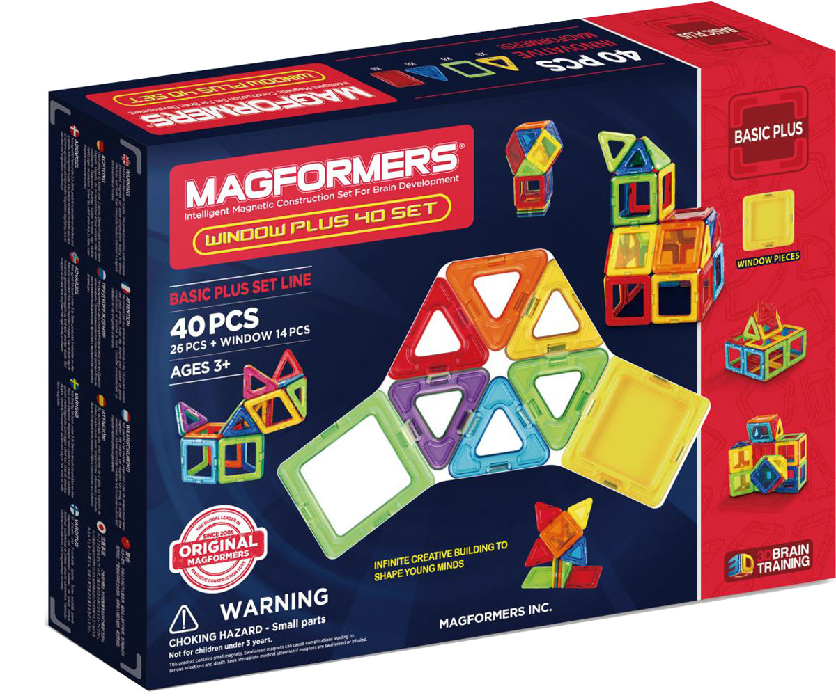 Magformers Магнитный конструктор Window Plus Set 40 Set библия пересказанная детям старшего возраста