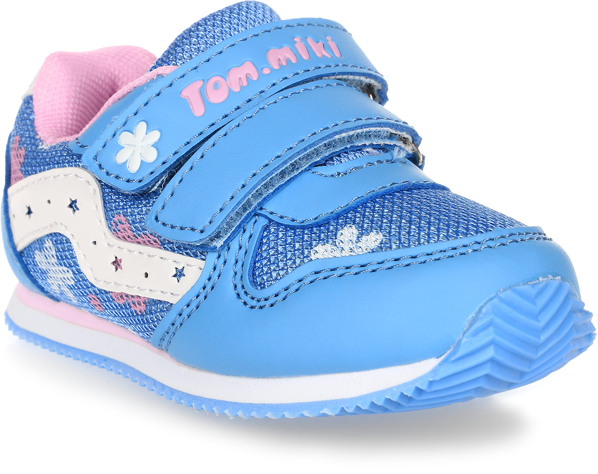 Кроссовки для девочки Tom&Miki, цвет: голубой. B-1051. Размер 25B-1051-BКроссовки для девочки Tom&Miki изготовлены из качественной искусственной кожи и текстиля. Липучки надежно зафиксируют обувь на ноге. Мягкая подкладка выполнена из кожи и текстиля. Подошва оснащена рифлением для лучшего сцепления с различными поверхностями. Такие кроссовки - отличный вариант на каждый день.
