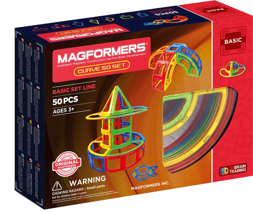 Magformers Магнитный конструктор Curve 50 Set