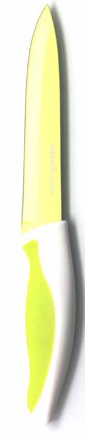 Нож для нарезки Atlantis, цвет: зеленый, длина лезвия 13 см. -5U-G