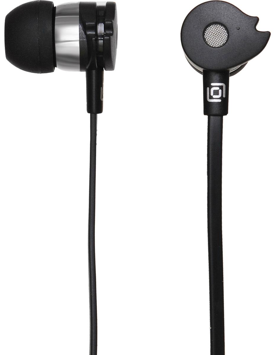 Oklick HS-S-210, Black наушникиHS-S-210Oklick HS-S-210 - подходящий выбор для тех, кто не может представить свою жизнь без любимой музыки отменного качества, звучащей в ушах в пути, во время занятий спортом и любое другое удобное время.Наушники плотно и надежно фиксируются в ушной раковине благодаря специальной форме амбушюр, что выгодно отличает ее от других проводных моделей. Легковесная конструкция делает ношение этого устройства невероятно комфортным.Акустические характеристики гарнитуры Oklick HS-S-210 обеспечивают естественное звучание на средних частотах и четкую детализацию звуков при прослушивании музыки и аудиокниг.Данная модель оснащена кнопкой ответа на вызов и микрофоном, закрепленными на проводе, поэтому ее можно использовать при подключении не только к компактной аудиотехнике, но и смартфону.