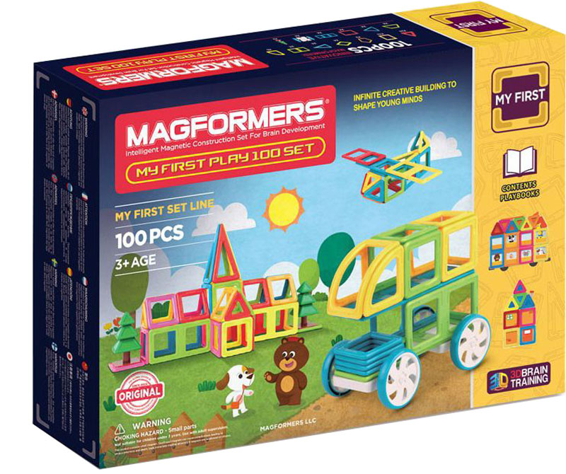 Magformers Магнитный конструктор My First Play 100 Set magformers my first magformers 30