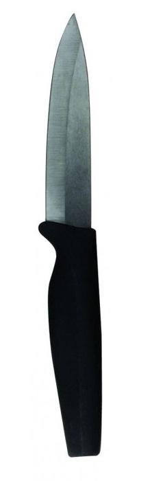 Нож для овощей Diamante, длина лезвия 10 см. 93-KN-DI-693-KN-DI-6Нож для овощей Linea Diamante выполнен из высококачественной циркониевой керамики. Мягкая эргономичная полипропиленовая ручка имеет покрытие Soft-touch, обеспечивающее особый комфорт при использовании ножа.Преимущества ножа для овощей Linea Diamante: циркониевая керамика обладает прочностью, уступающей только алмазу. Она на 30% тверже закаленной стали, выдающаяся острота лезвия, не требующая частой заточки, отличная износостойкость режущей кромки, нож не подвержен коррозии, не царапается, устойчив к действию пищевых кислот и агрессивной среды, не окисляет продукты и не оставляет на них запаха, керамика - абсолютно гигиеничный материал, легкость и простота эксплуатации.Керамический нож идеально подходит для нарезки мягких продуктов: овощей, фруктов, хлебобулочных изделий, сыра, мяса, рыбы. Продукты не прилипают к лезвию и не крошатся. Ножом не следует рубить кости и резать замороженные продукты. Характеристики: Материал: стеклокерамика, пластик. Длина ножа: 20 см. Длина лезвия: 10 см. Размер упаковки: 25,5 см х 6,5 см х 1,5 см. Производитель:Италия. Артикул: 93-KN-DI-6.