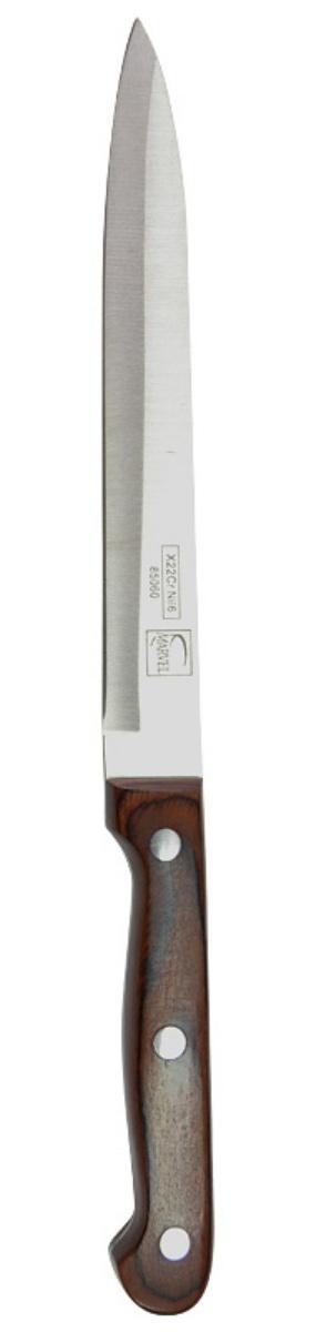 Нож для мяса Marvel Rose Wood Original, длина лезвия 15 см. 8506085060Нож Marvel Rose Wood Original изготовлен из высококачественной стали. Рукоятка выполнена из дерева. Она не скользит в руке и делает резку удобной и безопасной. Этот нож идеально подходит для нарезки мяса. Он займет достойное место среди аксессуаров на вашей кухне.