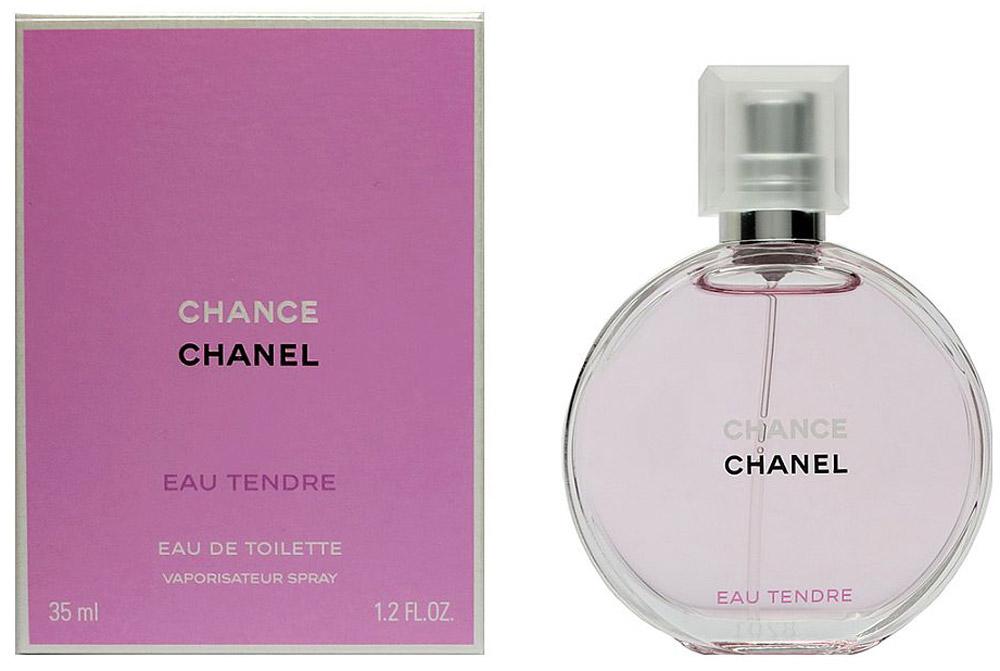 Chanel Chance Eau Tendre туалетная вода женская, 35 мл3700134406743Chance Eau Tendre Chanel - это аромат для женщин, принадлежит к группе ароматов цветочные фруктовые. Chance Eau Tendre выпущен в 2010. Парфюмер: Jacques Polge. Верхние ноты: Грейпфрут и Айва; ноты сердца: Жасмин и Гиацинт; ноты базы: Мускус, Ирис, Кедр из Вирджинии и Амбра.