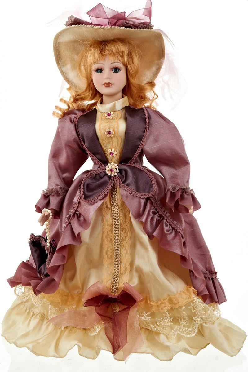 Кукла коллекционная ArtHouse Ольга, высота 36,5 см9960006Великолепная кукла Ольга, выполненная из фарфора, займет достойное место в вашей коллекции. Кукла максимально приближена к живому прототипу - юной леди с румянцем на щеках.Туловище куклы мягконабивное. Наряжена кукла в шикарное платье, выполненное из атласа, кружева и органзы.Для более удобного расположения куклы в интерьере прилагается удобная подставка.