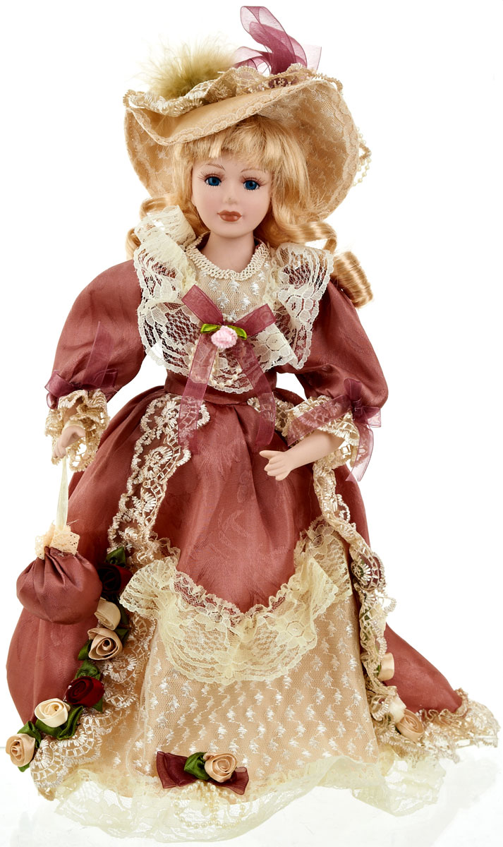 Кукла коллекционная ArtHouse Людмила, высота 36,5 см7709017_отбеленныйВеликолепная кукла Людмила, выполненная из фарфора, займет достойное место в вашей коллекции.Кукла максимально приближена к живому прототипу - юной леди с румянцем на щеках. Туловище куклы мягконабивное. Наряжена кукла в шикарное платье, выполненное из атласа, кружева и органзы. Для более удобного расположения куклы в интерьере прилагается удобная подставка.
