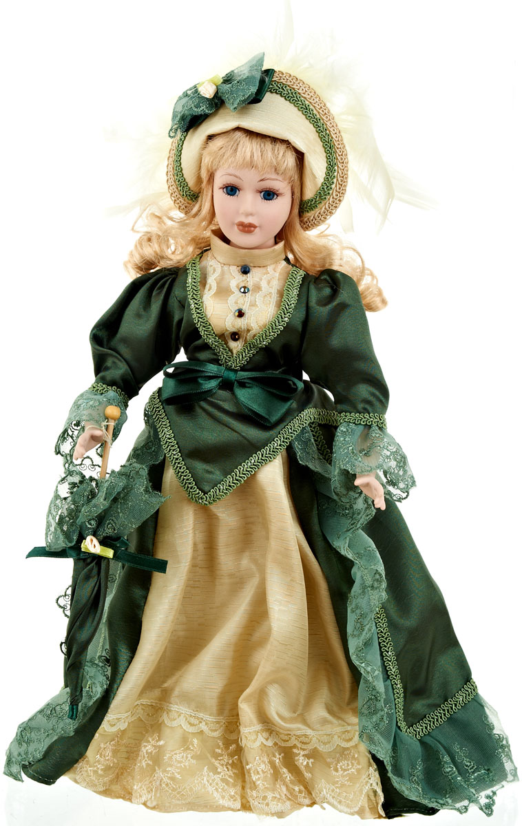 Кукла коллекционная ArtHouse Елена, высота 36,5 см9960013Великолепная кукла Елена, выполненная из фарфора, займет достойное место в вашей коллекции.Кукла максимально приближена к живому прототипу - юной леди с румянцем на щеках. Туловище куклы мягконабивное. Наряжена кукла в шикарное платье, выполненное из атласа, кружева и органзы. Для более удобного расположения куклы в интерьере прилагается удобная подставка.