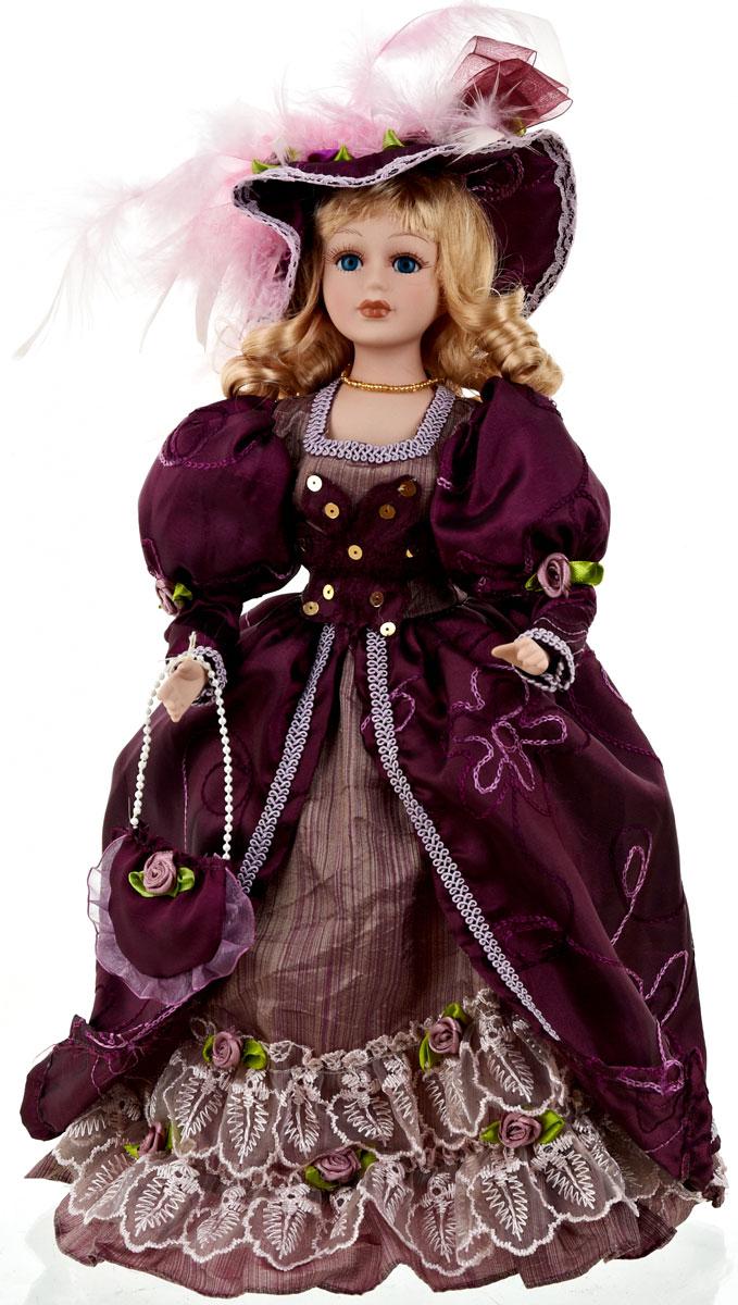 Кукла коллекционная ArtHouse Арина, высота 36,5 см9960014Великолепная кукла Арина, выполненная из фарфора, займет достойное место в вашей коллекции. Кукла максимально приближена к живому прототипу - юной леди с румянцем на щеках.Туловище куклы мягконабивное. Наряжена кукла в шикарное платье, выполненное из атласа, кружева и органзы.Для более удобного расположения куклы в интерьере прилагается удобная подставка.