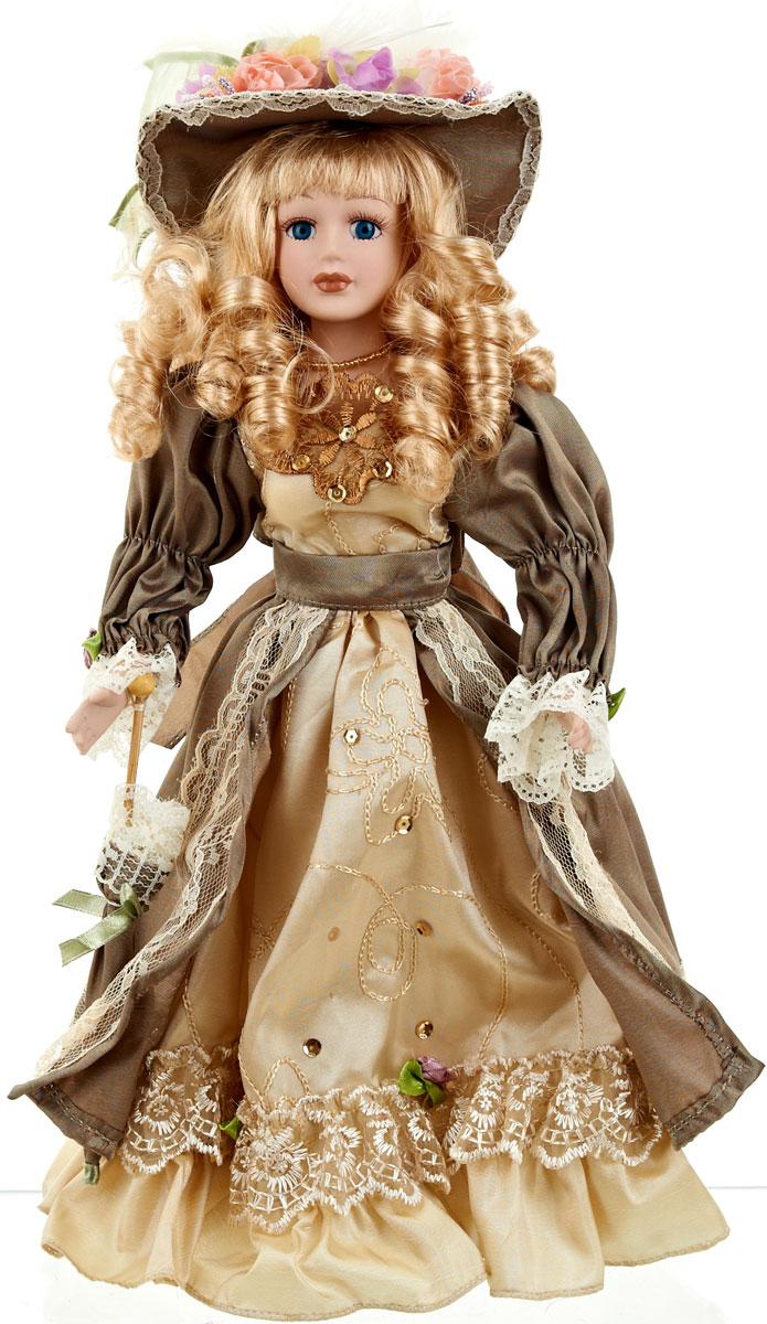 Кукла коллекционная ArtHouse Лидия, высота 36,5 см9960016Великолепная кукла Лидия, выполненная из фарфора, займет достойное место в вашей коллекции.Кукла максимально приближена к живому прототипу - юной леди с румянцем на щеках. Туловище куклы мягконабивное. Наряжена кукла в шикарное платье, выполненное из атласа, кружева и органзы. Для более удобного расположения куклы в интерьере прилагается удобная подставка.