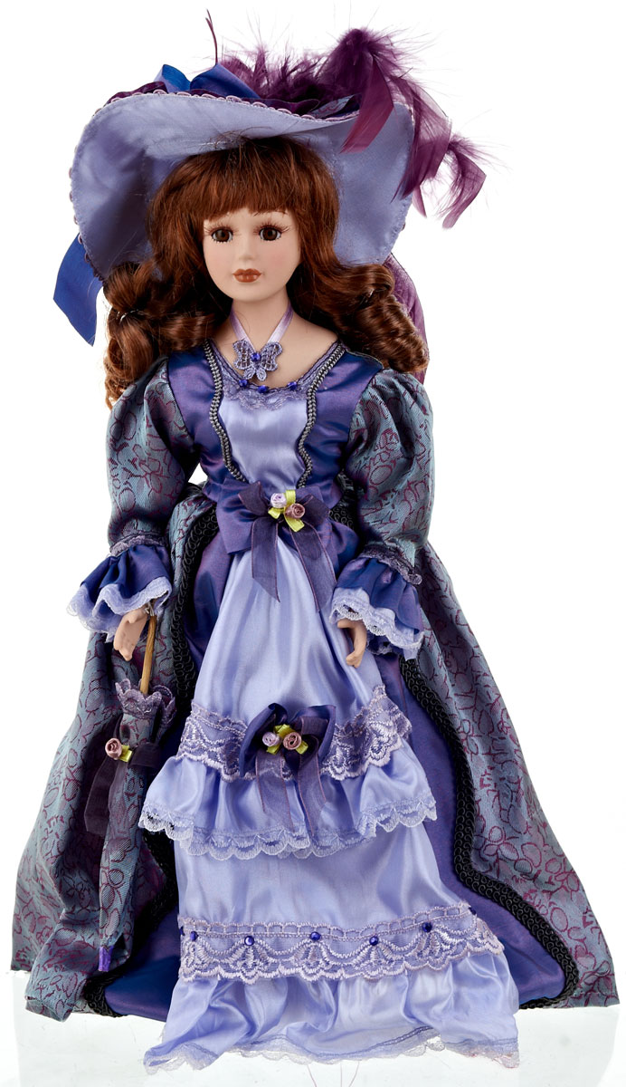 """Великолепная кукла ArtHouse """"Ульяна"""", выполненная из фарфора, займет достойное место в вашей коллекции.  Кукла максимально приближена к живому прототипу - юной леди с румянцем на щеках. Туловище куклы мягконабивное. Наряжена кукла в шикарное платье, выполненное из атласа, кружева и органзы. Для более удобного расположения куклы в интерьере прилагается удобная подставка."""