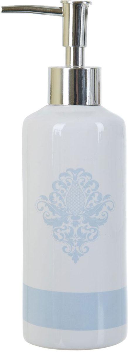 Диспенсер для жидкого мыла ENS Group Орнамент, 300 мл2430890Диспенсер для жидкого мыла ENS Group Орнамент имеет емкость из прочной глазурованной керамики. Металлический дозатор позволяет легко выдавливать нужное количество жидкого мыла. Изделие красиво дополнит интерьер ванной комнаты и создаст особую атмосферу уюта и комфорта.