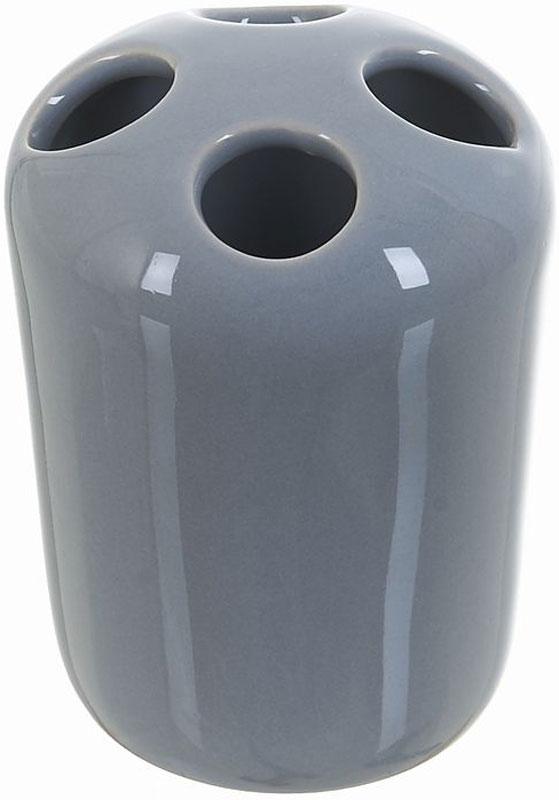 Стакан для зубных щеток White Clean Gray, 250 мл8290040Стакан для зубных щеток White Clean Gray изготовлен из прочной качественной керамики, покрытой глянцевой глазурью. Оснащен отверстиями для зубных щеток. Такой стакан красиво дополнит интерьер ванной комнаты и отлично сочетается с другими аксессуарами из коллекции Gray.Объем: 250 мл.