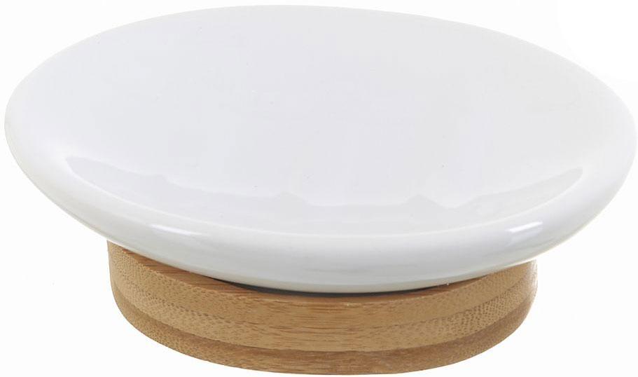 Мыльница White Clean Nature8290045Мыльница White CLEAN Nature выполнена из сочетания экологически чистого бамбука, устойчивого к высокой влажности, и элегантной натуральной и изящной белой керамики. Изделие отлично сочетается с другими аксессуарами из коллекции Nature.