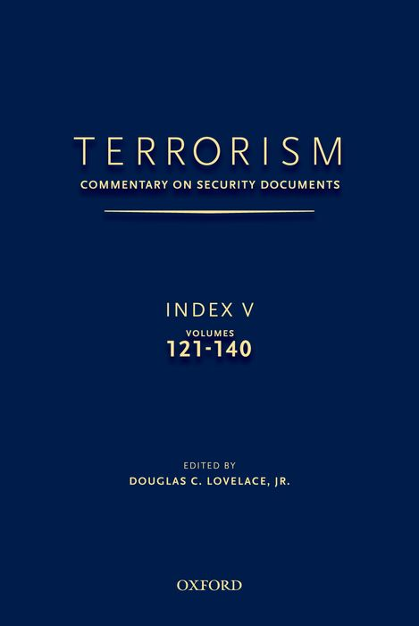 TERRORISM: COMMENTARY ON SECURITY DOCUMENTS INDEX V terrorism before the letter