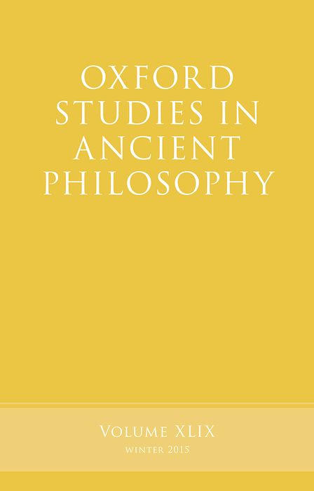 Oxford Studies in Ancient Philosophy, Volume 49 knights of sidonia volume 6