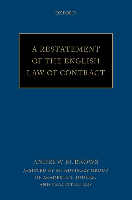 A Restatement of the English Law of Contract affair of state an