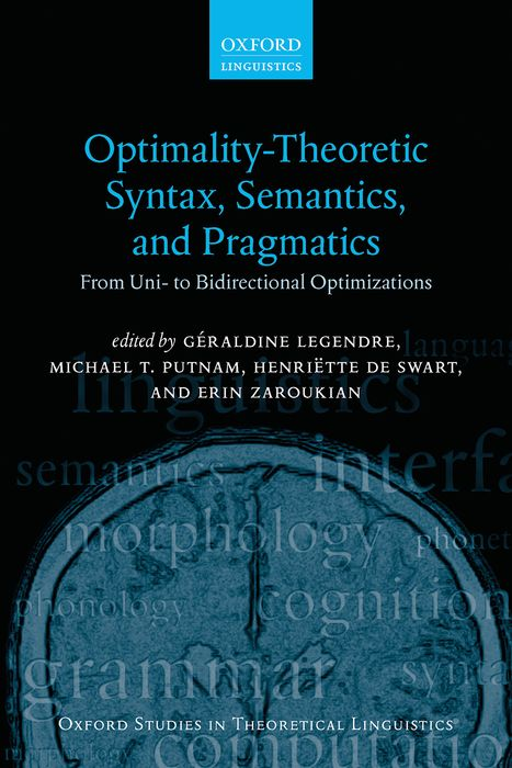 Optimality Theoretic Syntax, Semantics, and Pragmatics singer supera 5523 швейная машина