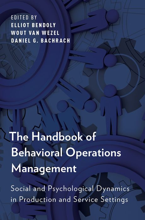 The Handbook of Behavioral Operations Management the role of evaluation as a mechanism for advancing principal practice