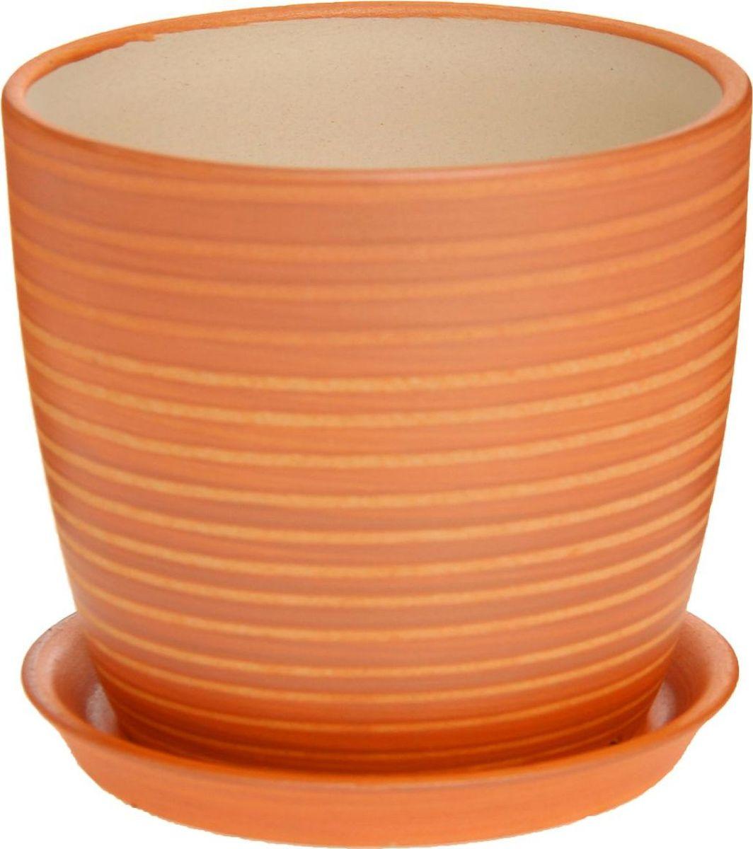 Кашпо Керамика ручной работы Осень. Радуга, цвет: карамельный, 0,5 л1170269Комнатные растения — всеобщие любимцы. Они радуют глаз, насыщают помещение кислородом и украшают пространство. Каждому из них необходим свой удобный и красивый дом. Кашпо из керамики прекрасно подходят для высадки растений: за счёт пластичности глины и разных способов обработки существует великое множество форм и дизайновпористый материал позволяет испаряться лишней влагевоздух, необходимый для дыхания корней, проникает сквозь керамические стенки! #name# позаботится о зелёном питомце, освежит интерьер и подчеркнёт его стиль.