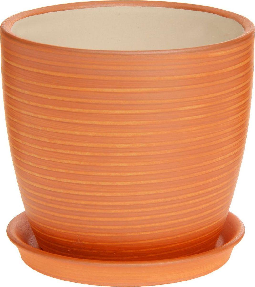 Кашпо Керамика ручной работы Осень. Радуга, цвет: карамельный, 1 л1170289Комнатные растения — всеобщие любимцы. Они радуют глаз, насыщают помещение кислородом и украшают пространство. Каждому из них необходим свой удобный и красивый дом. Кашпо из керамики прекрасно подходят для высадки растений: за счет пластичности глины и разных способов обработки существует великое множество форм и дизайнов пористый материал позволяет испаряться лишней влаге воздух, необходимый для дыхания корней, проникает сквозь керамические стенки! позаботится о зеленом питомце, освежит интерьер и подчеркнет его стиль.