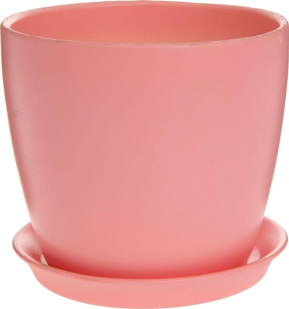 Кашпо Керамика ручной работы Осень. Глянец, цвет: розовый, 2 л1170306Комнатные растения — всеобщие любимцы. Они радуют глаз, насыщают помещение кислородом и украшают пространство. Каждому из них необходим свой удобный и красивый дом. Кашпо из керамики прекрасно подходят для высадки растений: за счёт пластичности глины и разных способов обработки существует великое множество форм и дизайновпористый материал позволяет испаряться лишней влагевоздух, необходимый для дыхания корней, проникает сквозь керамические стенки! #name# позаботится о зелёном питомце, освежит интерьер и подчеркнёт его стиль.