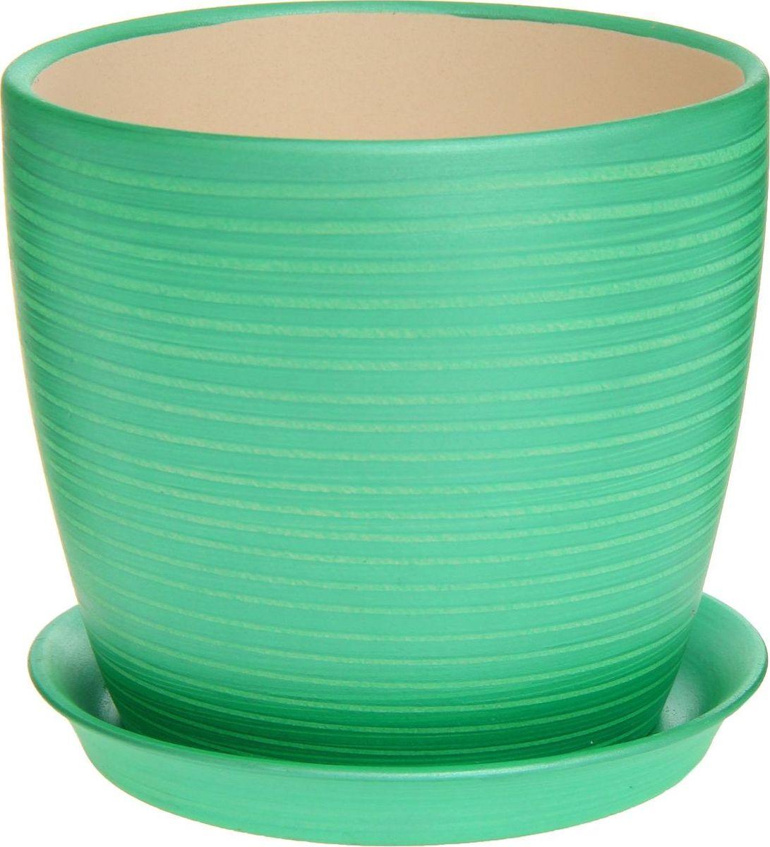 Кашпо Керамика ручной работы Осень. Радуга, цвет: зеленый, 2 л1170323Комнатные растения — всеобщие любимцы. Они радуют глаз, насыщают помещение кислородом и украшают пространство. Каждому из них необходим свой удобный и красивый дом. Кашпо из керамики прекрасно подходят для высадки растений: за счёт пластичности глины и разных способов обработки существует великое множество форм и дизайновпористый материал позволяет испаряться лишней влагевоздух, необходимый для дыхания корней, проникает сквозь керамические стенки! #name# позаботится о зелёном питомце, освежит интерьер и подчеркнёт его стиль.