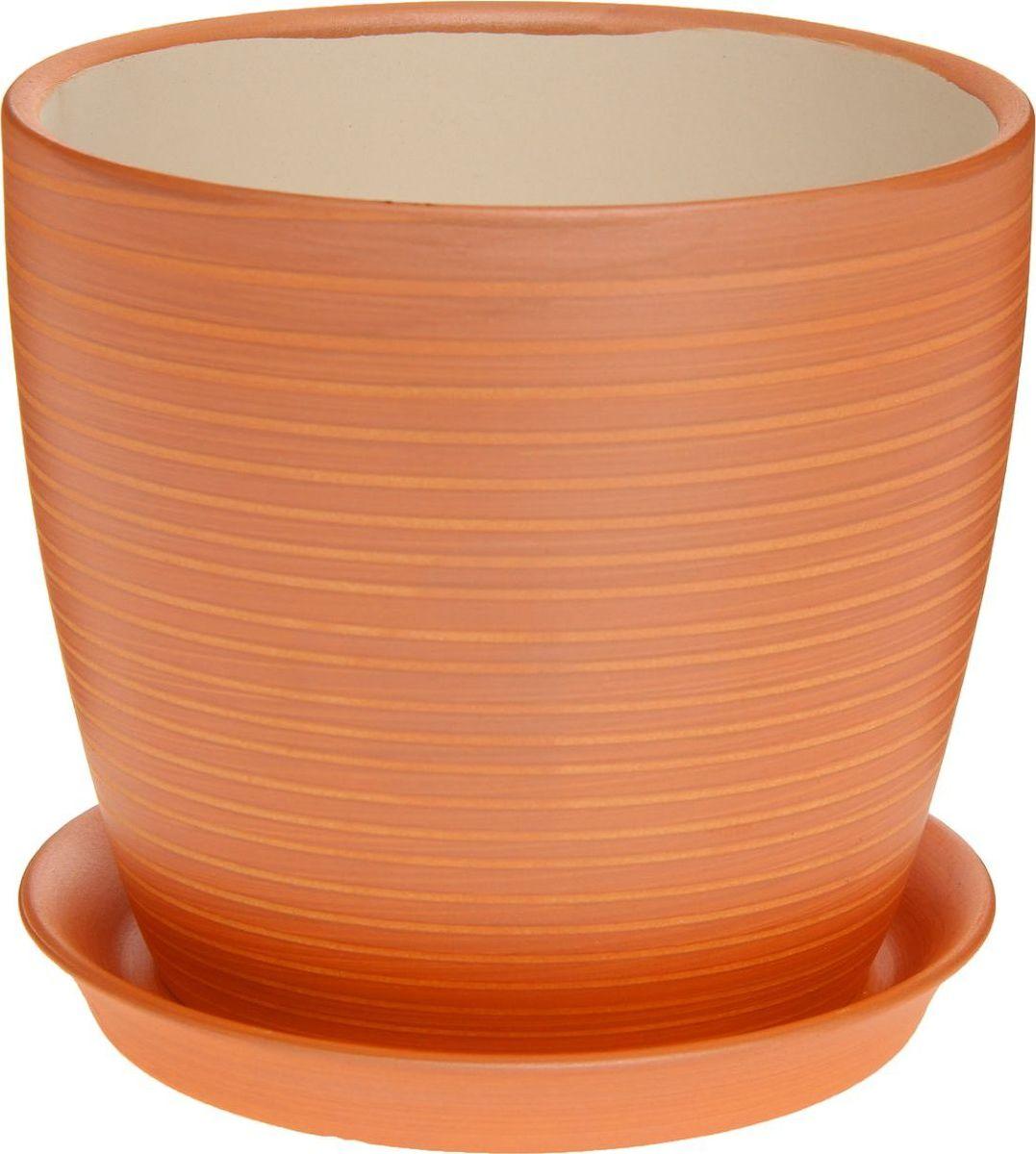 Кашпо Керамика ручной работы Осень. Радуга, цвет: карамельный, 2 л1170325Комнатные растения — всеобщие любимцы. Они радуют глаз, насыщают помещение кислородом и украшают пространство. Каждому из них необходим свой удобный и красивый дом. Кашпо из керамики прекрасно подходят для высадки растений: за счёт пластичности глины и разных способов обработки существует великое множество форм и дизайновпористый материал позволяет испаряться лишней влагевоздух, необходимый для дыхания корней, проникает сквозь керамические стенки! #name# позаботится о зелёном питомце, освежит интерьер и подчеркнёт его стиль.