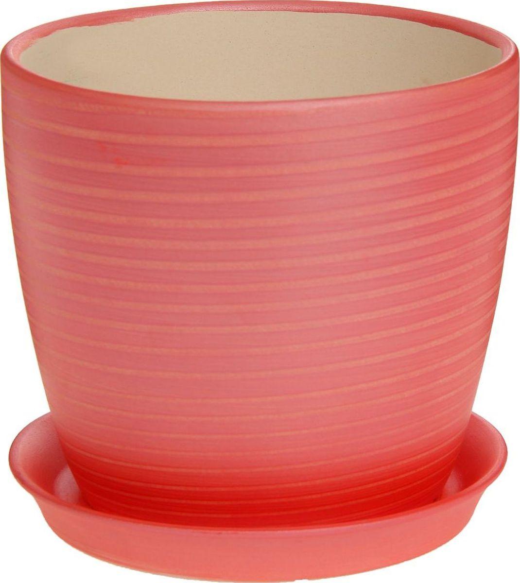 Кашпо Керамика ручной работы Осень. Радуга, цвет: красный, 2 л1170326Комнатные растения — всеобщие любимцы. Они радуют глаз, насыщают помещение кислородом и украшают пространство. Каждому из них необходим свой удобный и красивый дом. Кашпо из керамики прекрасно подходят для высадки растений: за счёт пластичности глины и разных способов обработки существует великое множество форм и дизайновпористый материал позволяет испаряться лишней влагевоздух, необходимый для дыхания корней, проникает сквозь керамические стенки! #name# позаботится о зелёном питомце, освежит интерьер и подчеркнёт его стиль.