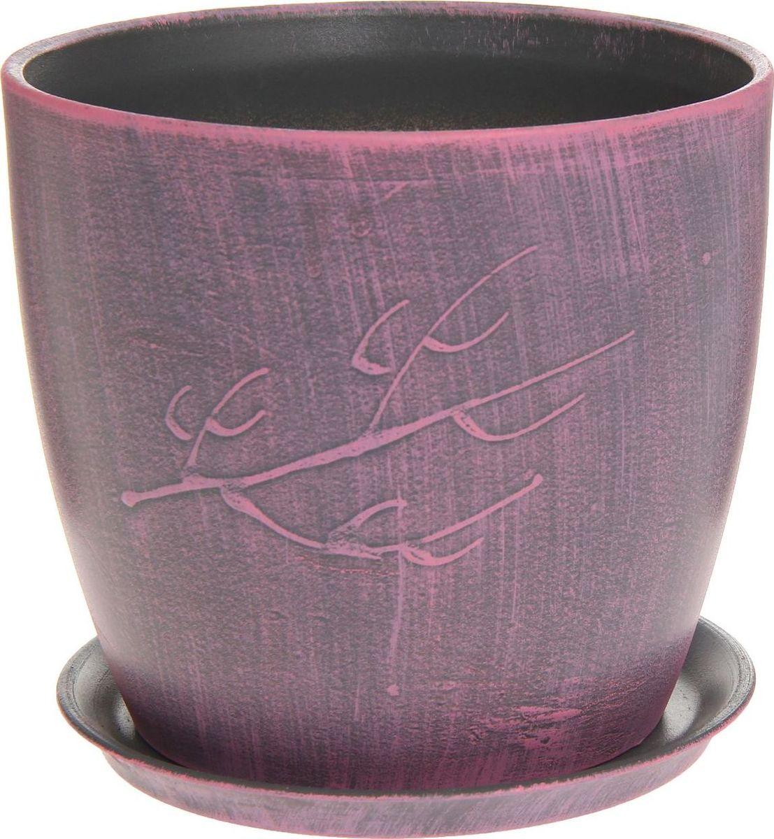 Кашпо Керамика ручной работы Осень. Патина, цвет: розовый, 3 л1170349Комнатные растения — всеобщие любимцы. Они радуют глаз, насыщают помещение кислородом и украшают пространство. Каждому из них необходим свой удобный и красивый дом. Кашпо из керамики прекрасно подходят для высадки растений: за счёт пластичности глины и разных способов обработки существует великое множество форм и дизайновпористый материал позволяет испаряться лишней влагевоздух, необходимый для дыхания корней, проникает сквозь керамические стенки! #name# позаботится о зелёном питомце, освежит интерьер и подчеркнёт его стиль.