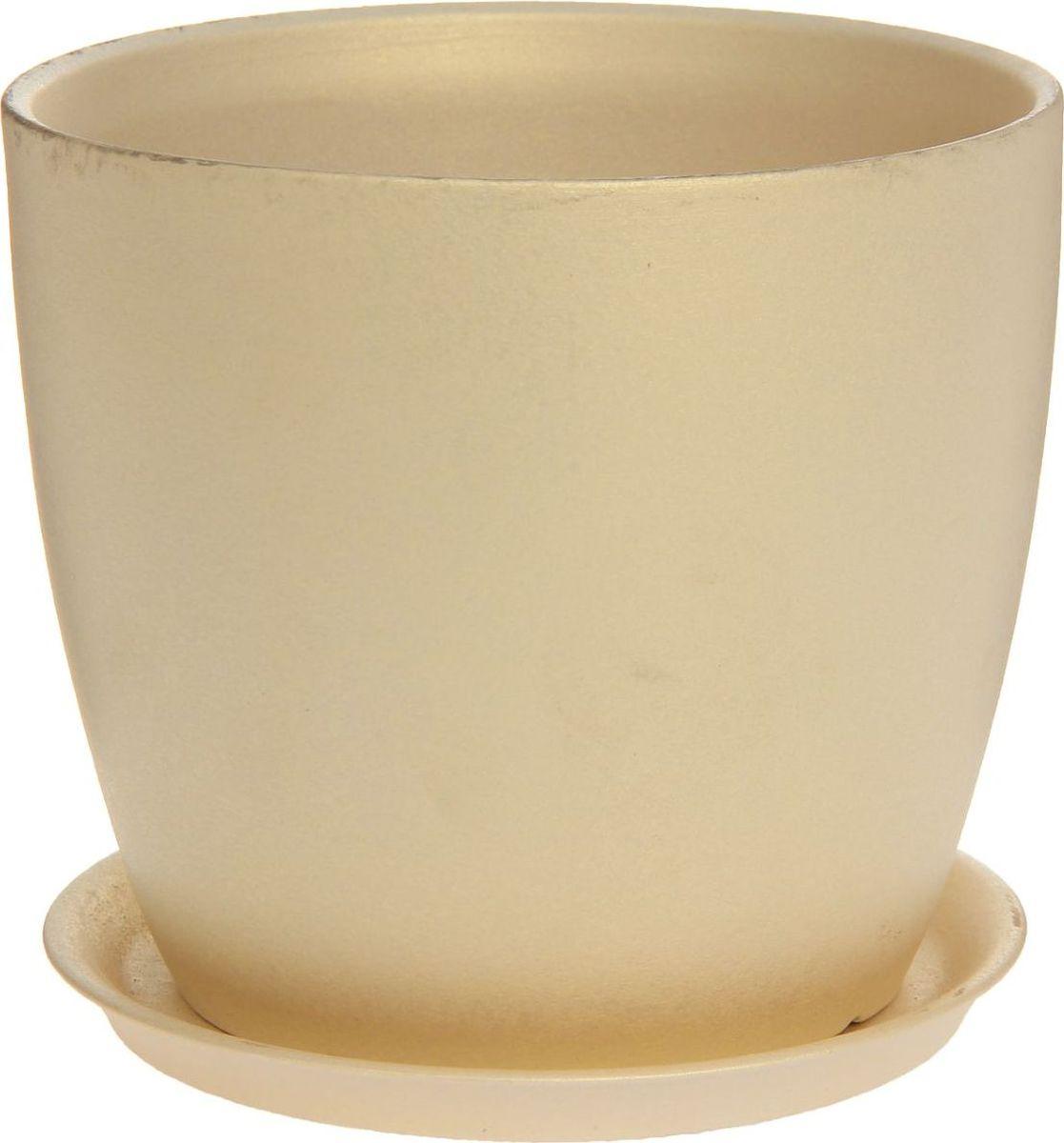 Кашпо Керамика ручной работы Осень. Перламутр, цвет: перламутровый, 3 л1170352Комнатные растения — всеобщие любимцы. Они радуют глаз, насыщают помещение кислородом и украшают пространство. Каждому из них необходим свой удобный и красивый дом. Кашпо из керамики прекрасно подходят для высадки растений: за счет пластичности глины и разных способов обработки существует великое множество форм и дизайнов пористый материал позволяет испаряться лишней влаге воздух, необходимый для дыхания корней, проникает сквозь керамические стенки! позаботится о зеленом питомце, освежит интерьер и подчеркнет его стиль.
